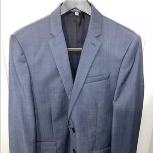 Express Photographer Fitted Suit Jacket 42R Blue